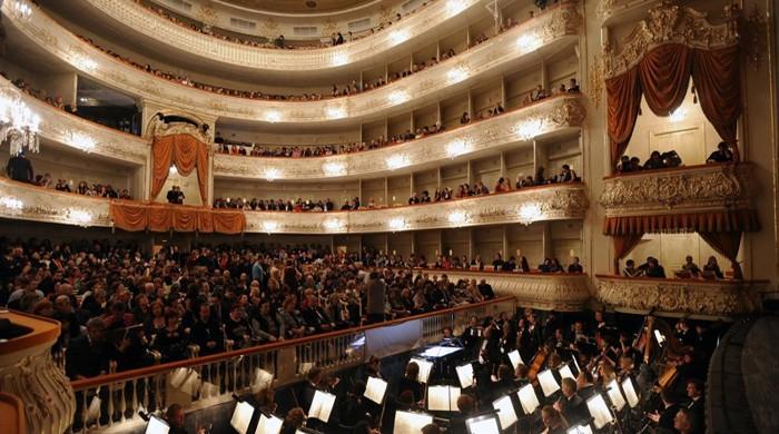 salle comble au théâtre Mikhaïlovsky