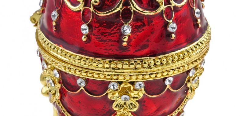 Un des célèbres oeufs du joailler Pierre Fabergé