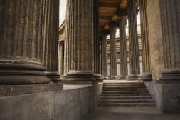 Les colonnes de la cathédrale de Kazan