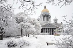 St Isaac sous la neige