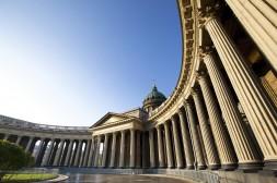 colonnes de la cathédrale de Kazan