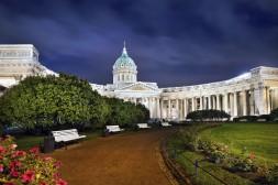 La Cathédrale de Kazan illuminée