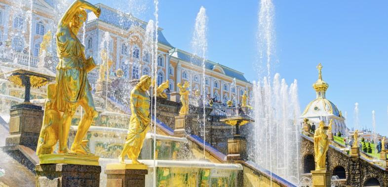 Les Fontaines de Péterhof en été