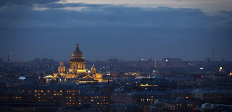 nuit blanche La Cathédrale St Isaac illuminée