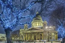 St Isaac dans la magie de l'hiver