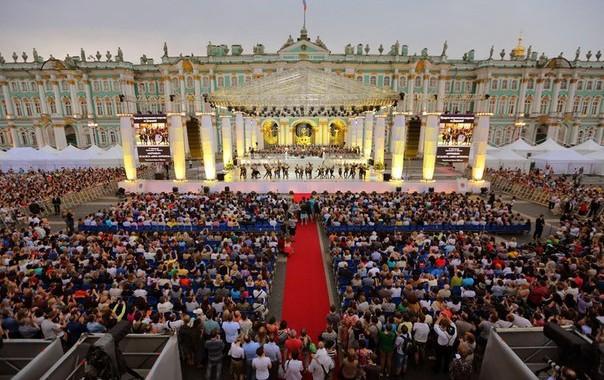 Concert devant l'Ermitage