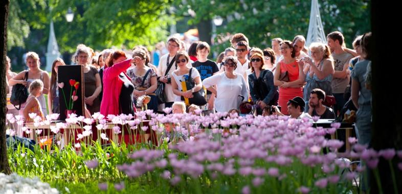 festival de tulipes à Saint-Pétersbourg